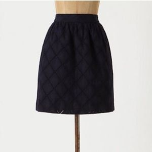 Anthropologie Tabitha Navy Diamente Skirt